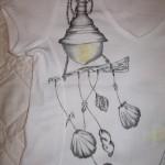 maglietta dipinta scacciapensieri