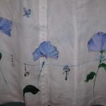 camicia dipinta a mano fiori